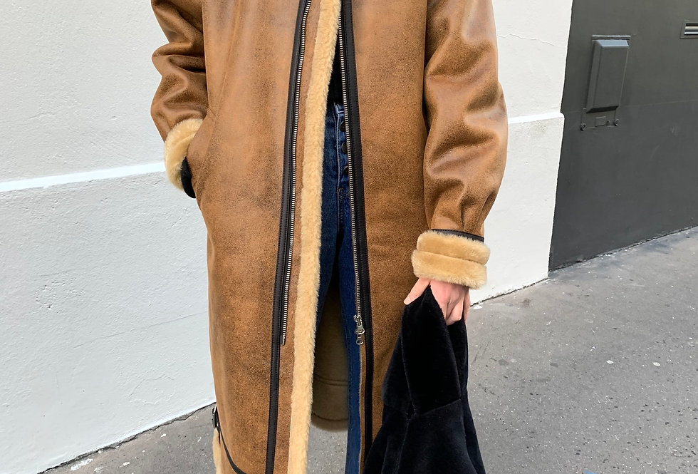 Eco Shearling Coat
