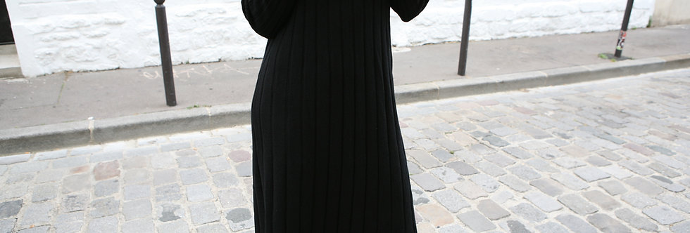 Wool knitted long dress (2 colors)