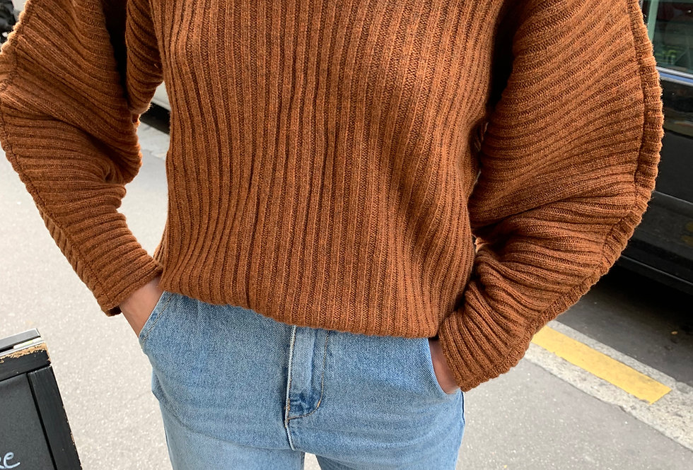 Ribbed  Sweater (2colors)