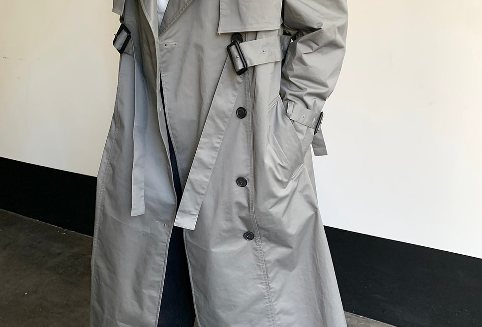 Pin Buckle Trench Coat (2colors)