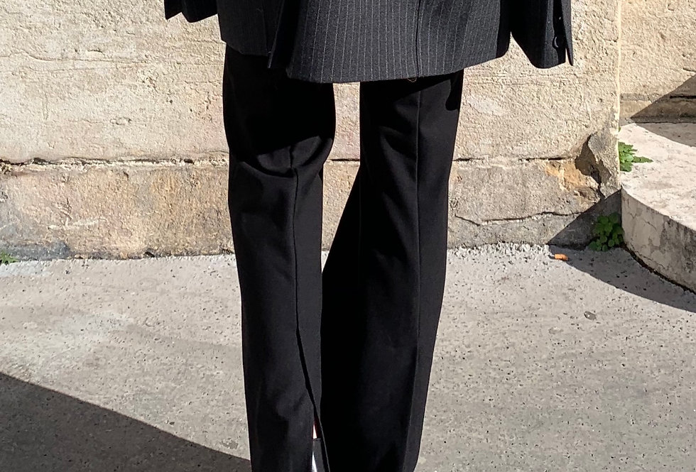 Flared Trousers with Back Slit Detail