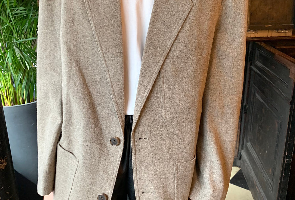 Oversized Wool Blend Blazer (2colors)