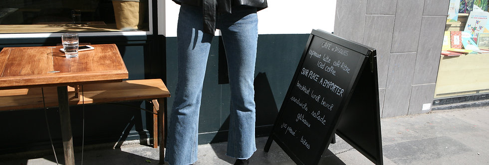 Triangle flared jeans