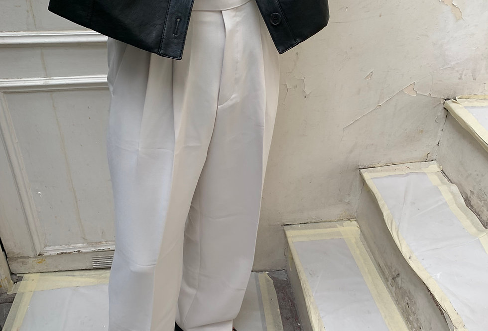 Pleated Trousers (2colors)
