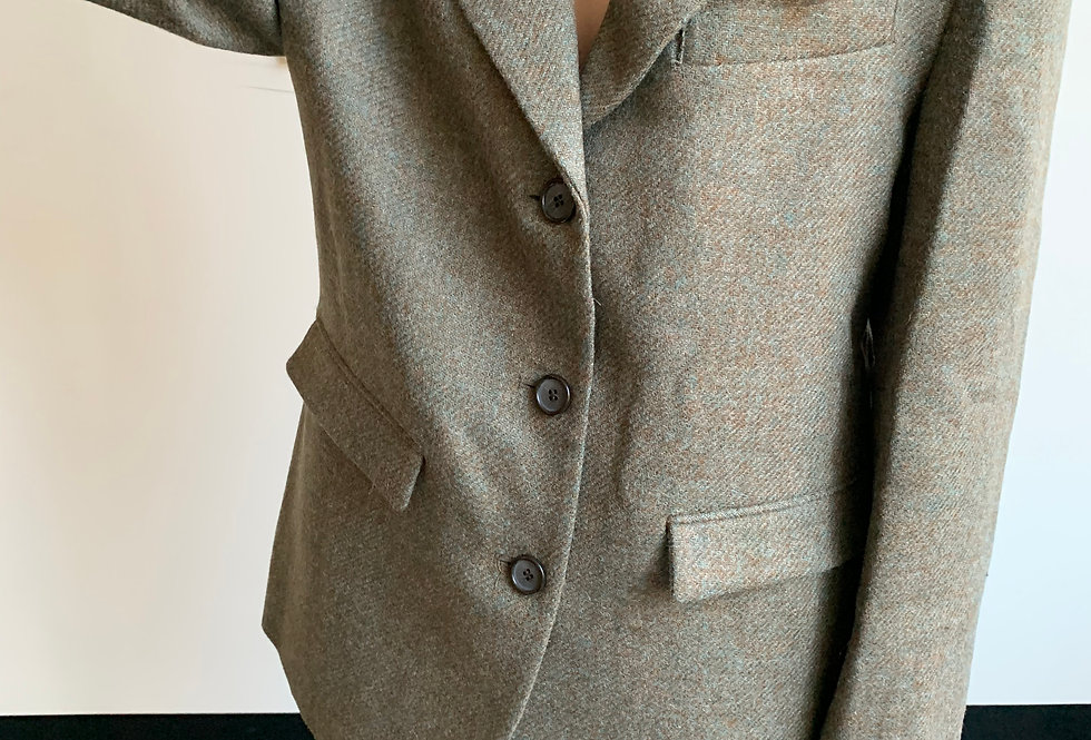 Long Fitted Wool Blazer (2colors)