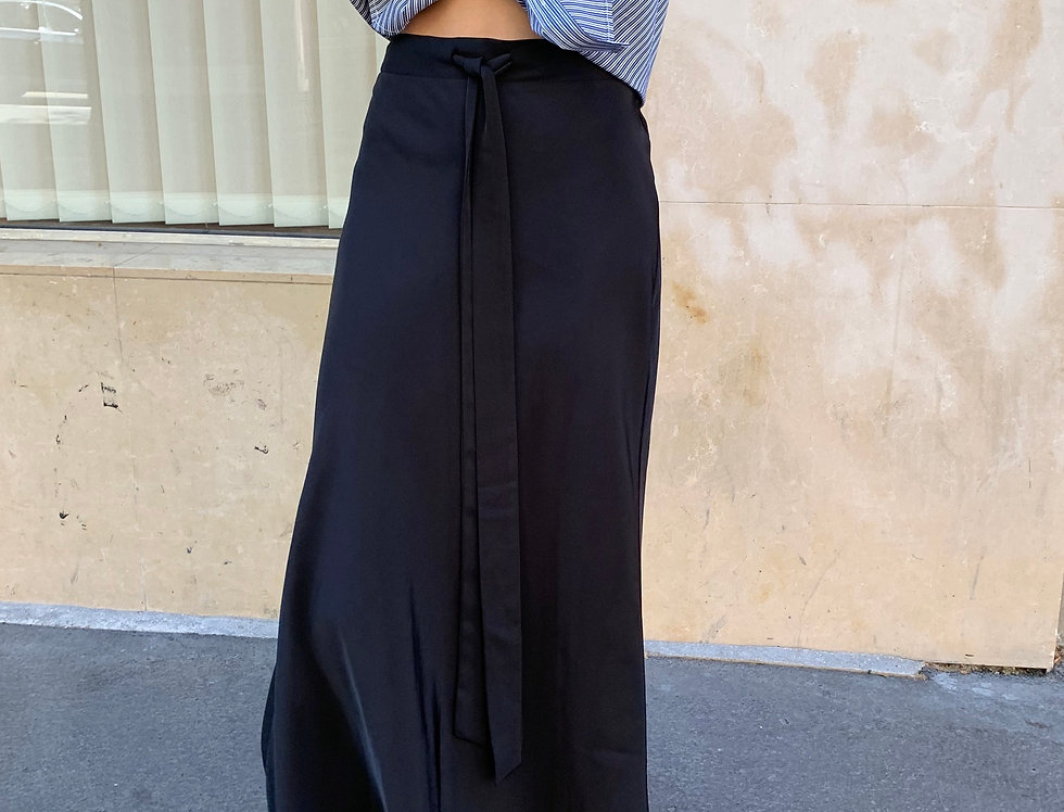 Bias Cut Midi Skirt (2colors)