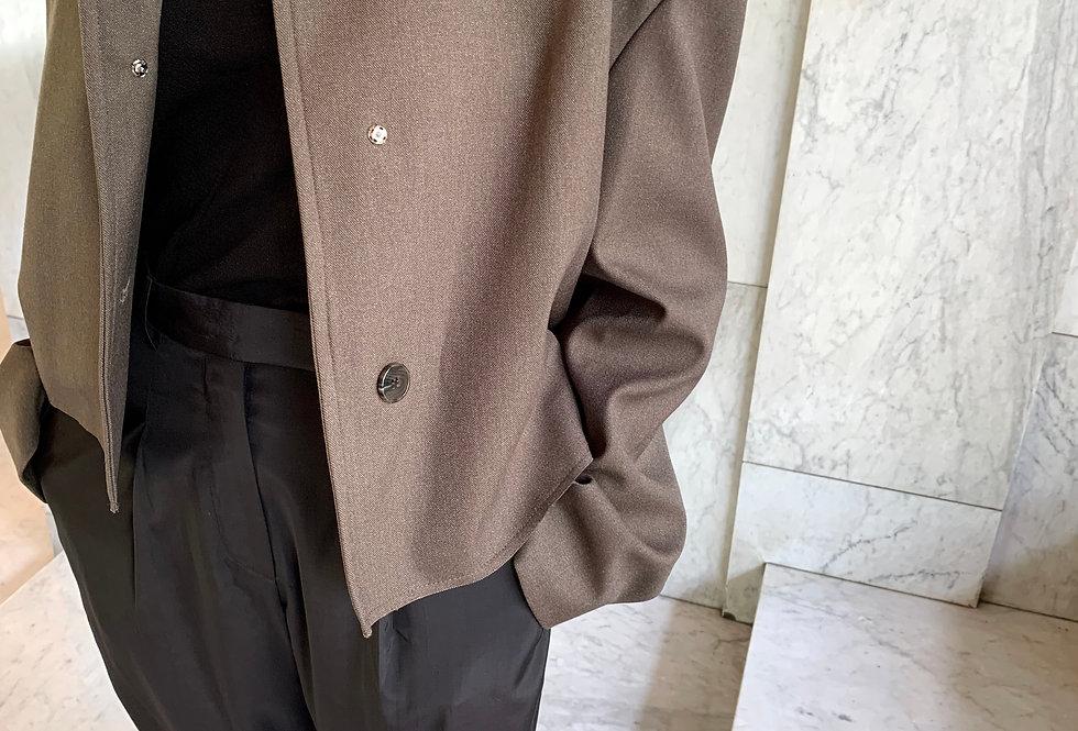 Boxy Cropped Jacket (2colors)