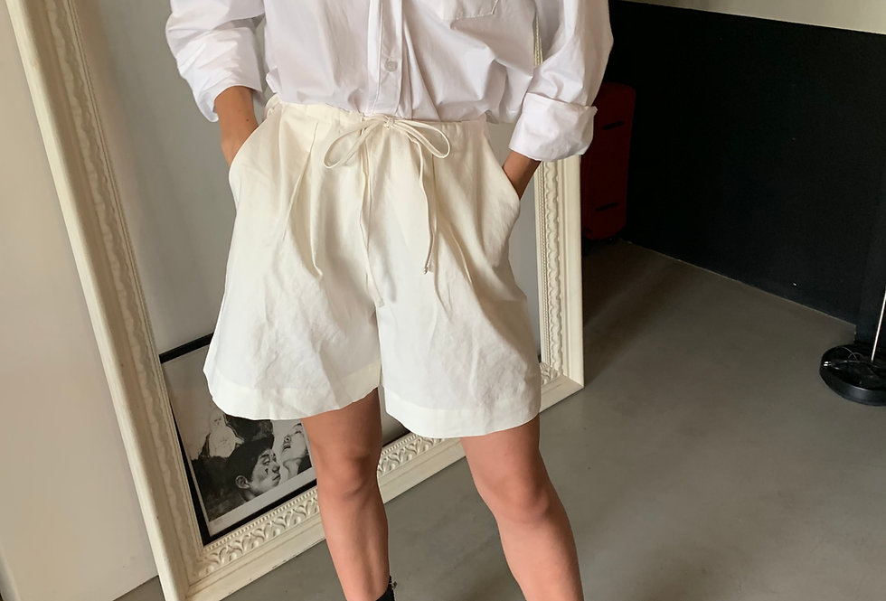 Linen Blend Shorts  (2colors)
