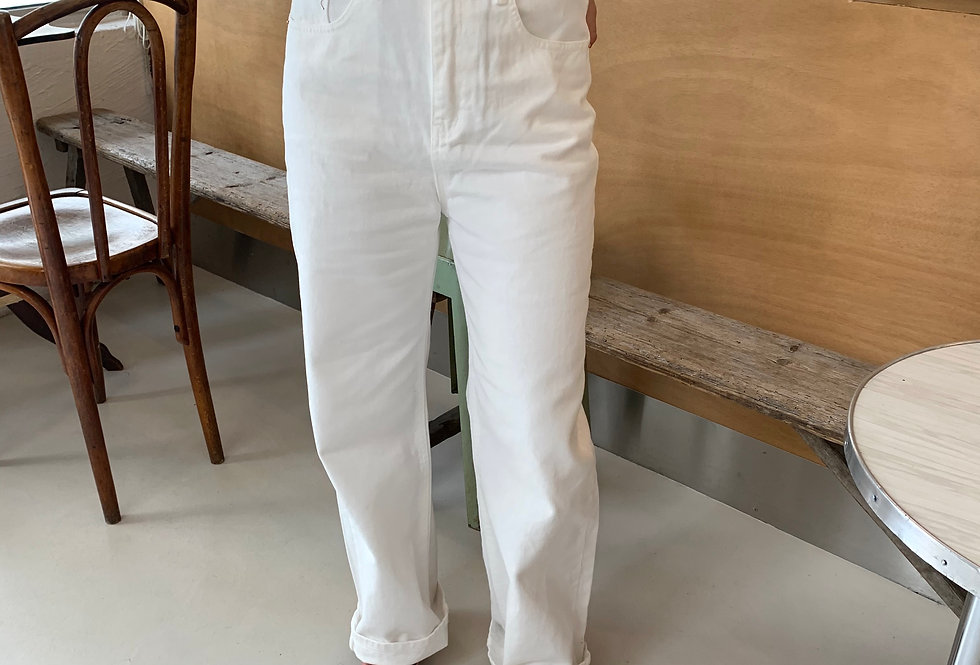 White Trousers With Belt