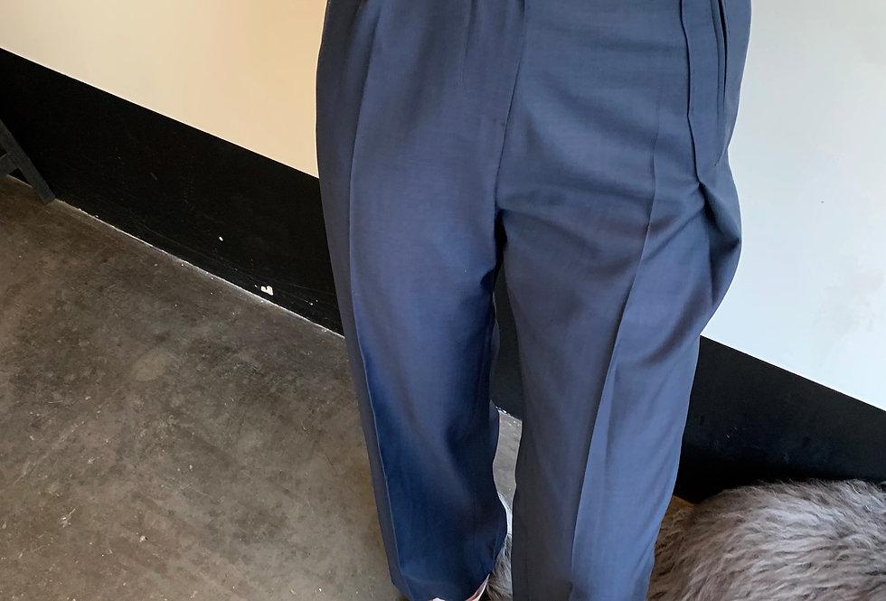 Asymmetric Pleat  Trousers (2colors)