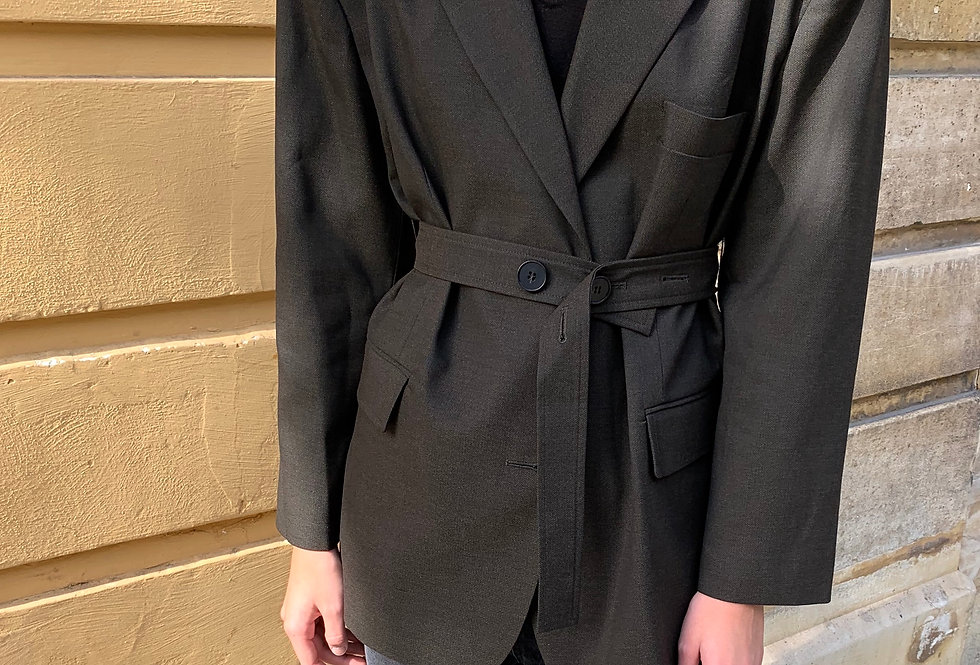 Oversized Belted Blazer (2colors)