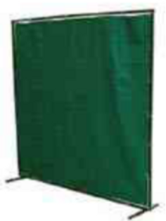 Green Fibreglass Flame Retardant Welding Curtain