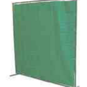 Green Canvas Flame Retardant Welding Curtain