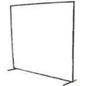 Telescopic / Adjustable Welding Curtain Frame - 6' x 6' to 8' x 6' (6ft x 6ft -