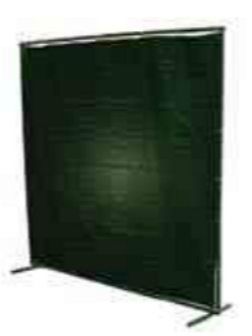 Dark Green Vinyl Welding Curtain