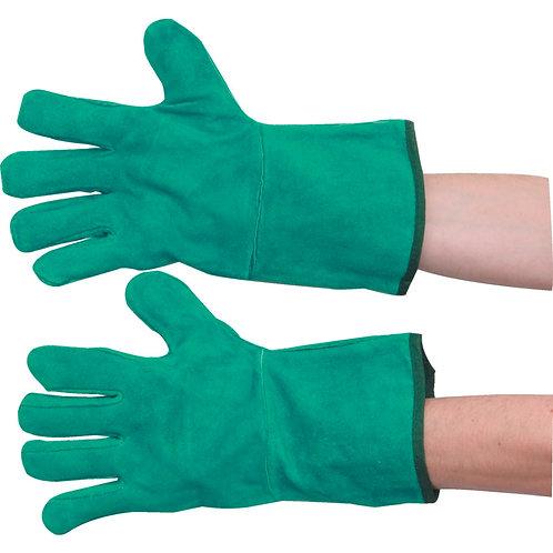 Green Ambidextrous Welding Gauntlet
