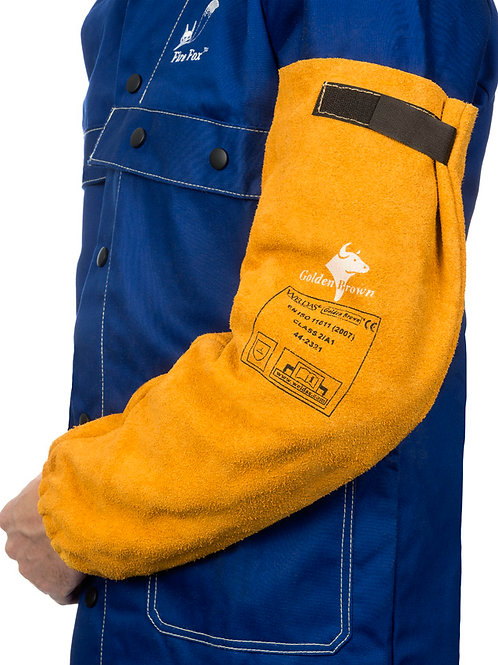 Golden Brown™ Split Cowleather Welding Sleeves (pair) XL