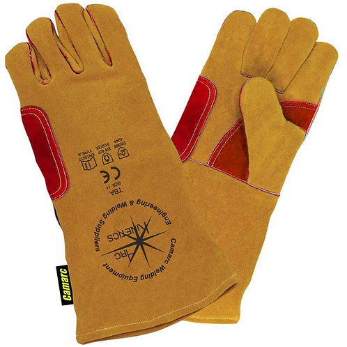 Yellow Leather Superior Welding Gauntlet - Reinforced