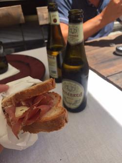 En lättare lunch på torget