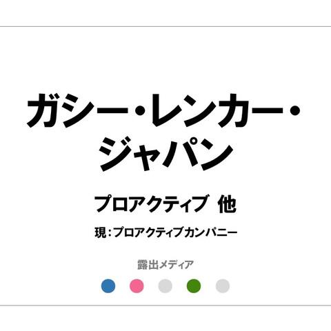 ガシー・レンカー・ジャパン/プロアクティブ 他