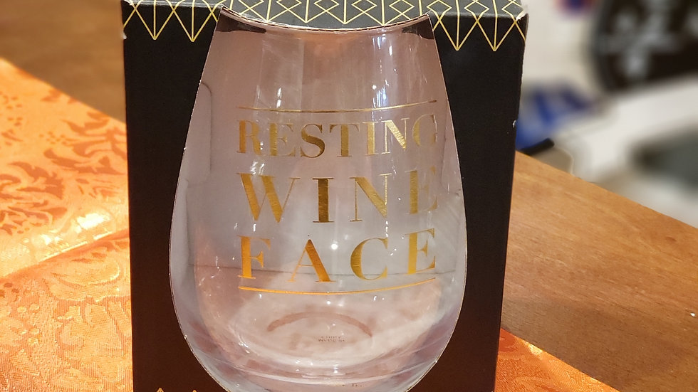 Resting Wine Face Glass