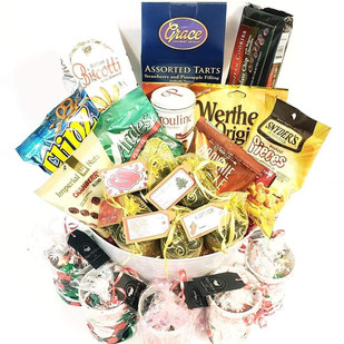 Christmas Basket for Vet Office