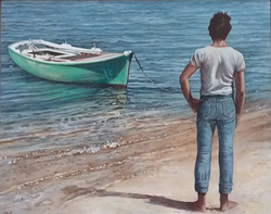 Boy with Green Boat