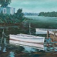 Island, Chesapeake 30X24 Acrylic on Line