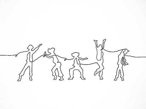 rhythm is a dancer, original print