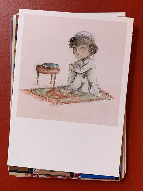 postcard, after prayer