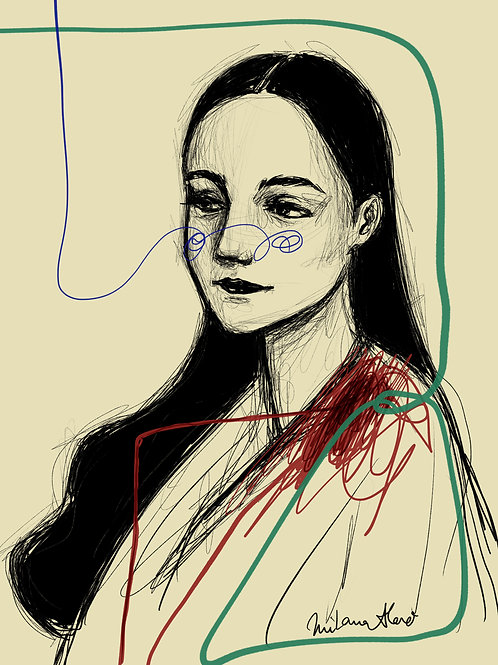 digital drawing ORIGINAL PRINT
