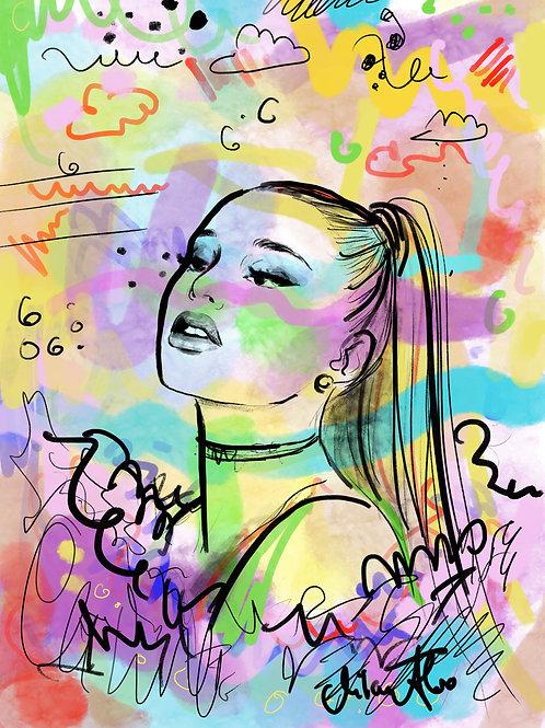 """""""Ariana"""" ORIGINAL PRINT"""