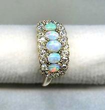 Edwardian Opal and Diamond Ring