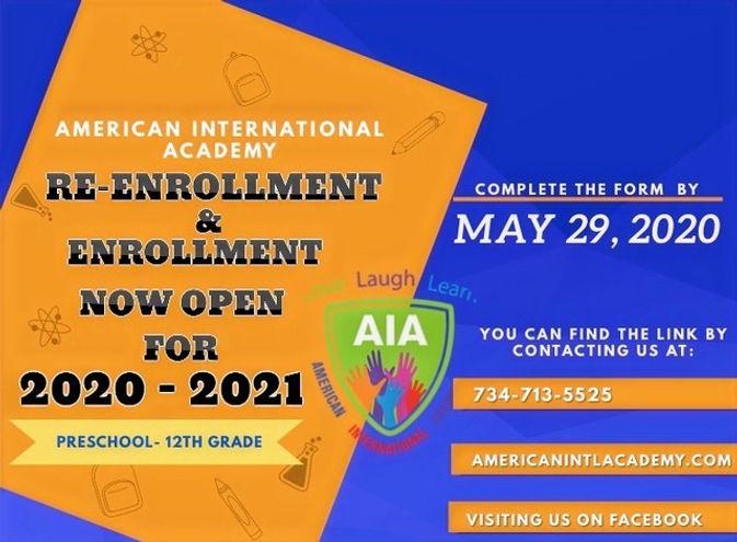 AIA%20Re-enrollment%3AEnrollment%20for%2