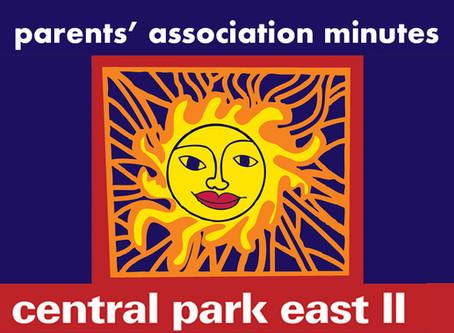 10-4-19 CPE II Parent's Association Minutes