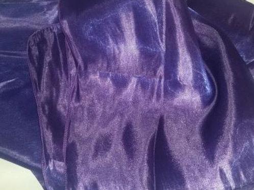 Shimmer Organza Half Moon Veil - Purple