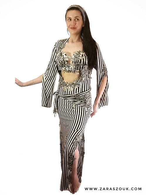 Stunning stripes bra dress