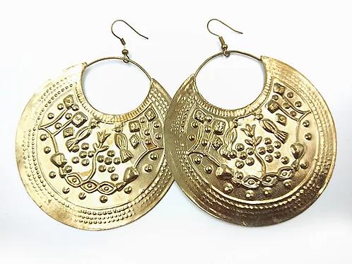 LARGE Baladi Girl Disc Earrings - silver
