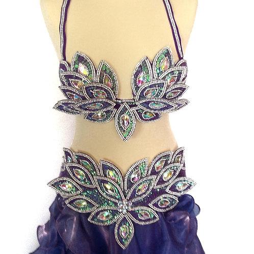 Lotus Bra and Belt - Purple