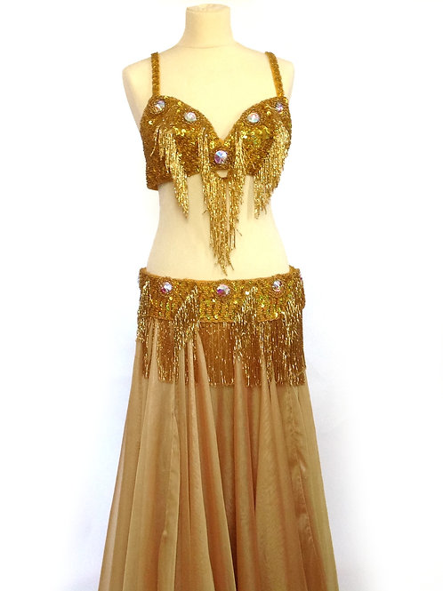 Oriental Bra and Belt Sets Gold