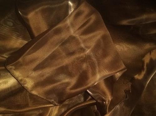 Shimmer Organza Half Moon Veil - chocolate