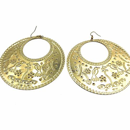 Medium Baladi Girl Disc Earrings silver