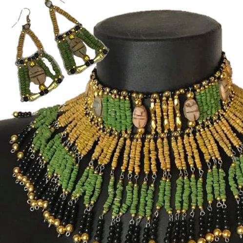 Queen Tiye Choker and Earrings
