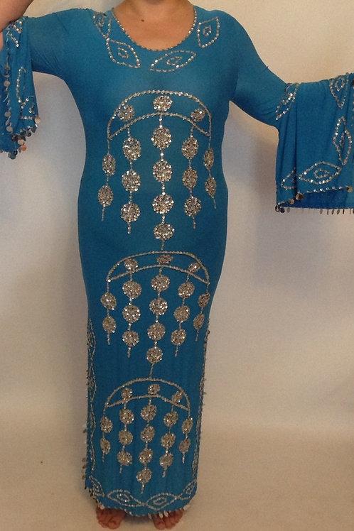 Sequin Moon Dress - blue - 14/16