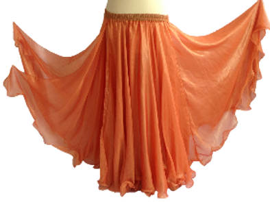 CHIFFON SKIRT DOUBLE LAYER DOUBLE SPLIT - Clementine Shimmer