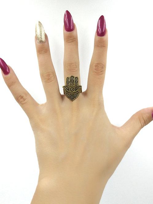 Hand of hamza ring