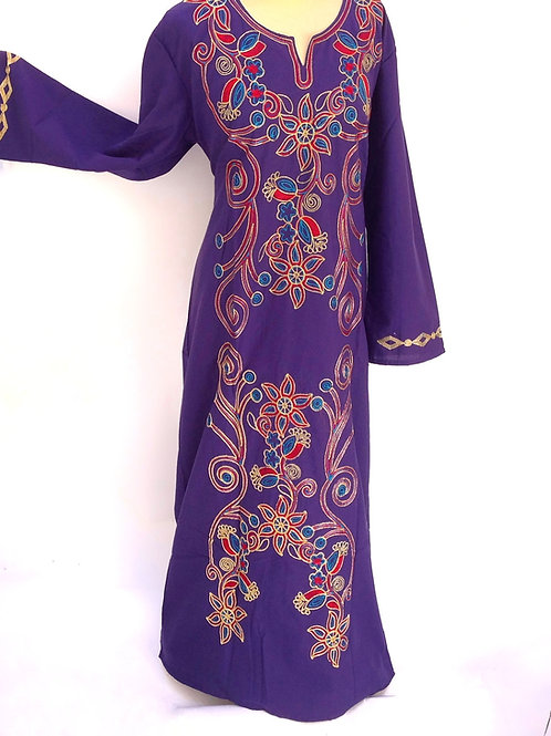 Electric Blue Daisy Galabaya