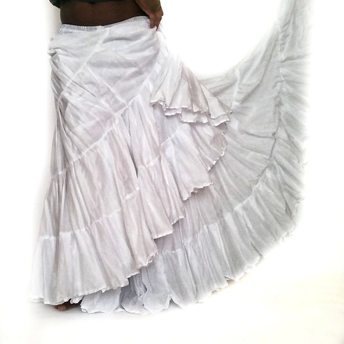 "25 YARD SOLID SKIRT - WHITE - LENGTH 36"" AND 38"""
