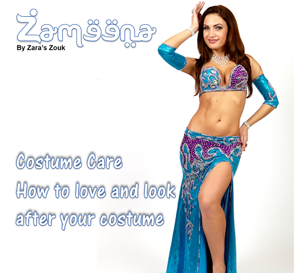 Zameena Free Bellydance Magazine by Zara's Zouk - how to look after and wash your bellydance costumes