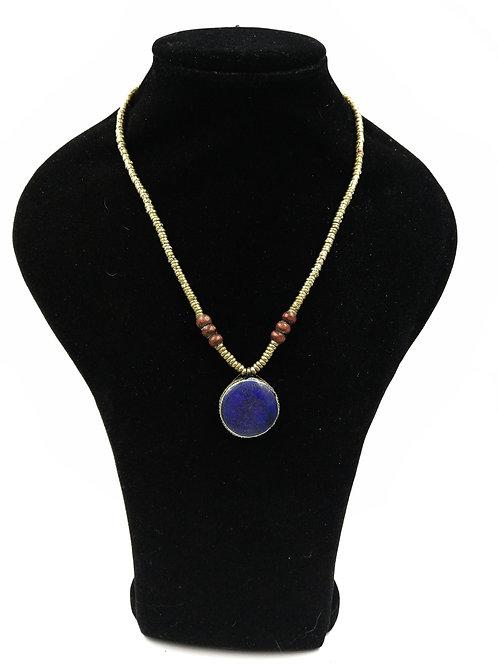 Cute Lapis Kuchi circle necklace